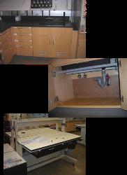 lab sink and modular workbench